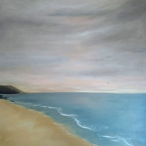 (CreativeWork) Thirroul Beach  by Amanda Skye. arcylic-painting. Shop online at Bluethumb.