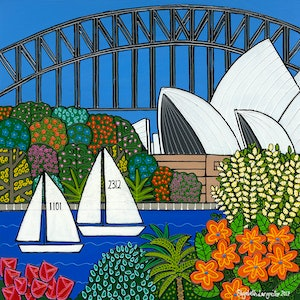 (CreativeWork) Spring in Sydney Limited Edition Print Ed. 11 of 30 by Elizabeth Langreiter. print. Shop online at Bluethumb.