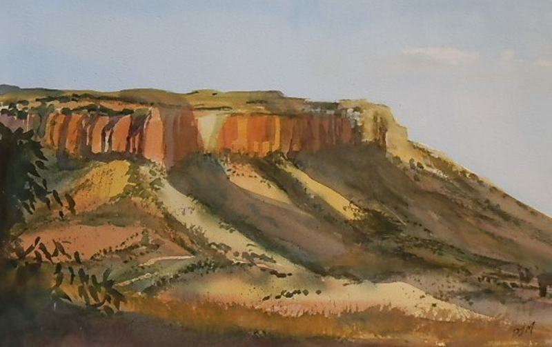 (CreativeWork) Out from Kununurra  WA by Phillip Mylecharane. Watercolour Paint. Shop online at Bluethumb.