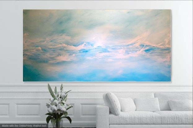 (CreativeWork) TIMELESS WAVE (large scale 1.8 meter)  by Kat Las. Acrylic Paint. Shop online at Bluethumb.