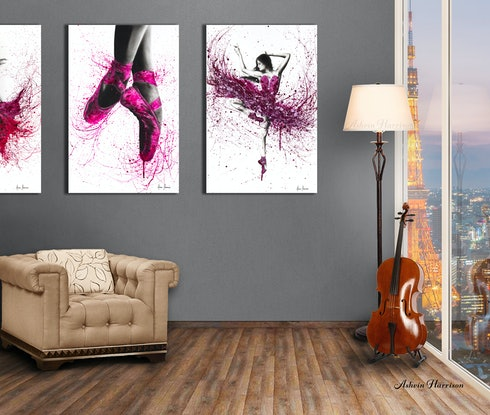(CreativeWork) Pretty In Pink by Ashvin Harrison. Acrylic Paint. Shop online at Bluethumb.