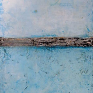 (CreativeWork) Blue horizon by Jack Isbister. arcylic-painting. Shop online at Bluethumb.