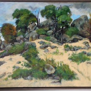 (CreativeWork) crown land by Raymond Wittenberg. oil-painting. Shop online at Bluethumb.