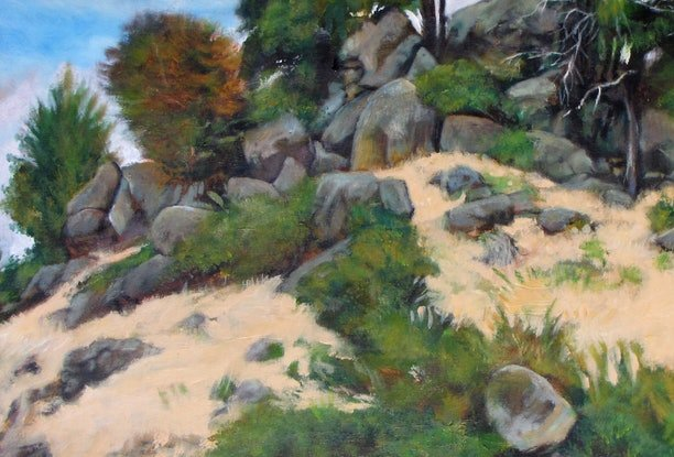 (CreativeWork) crown land by Raymond Wittenberg. Oil Paint. Shop online at Bluethumb.