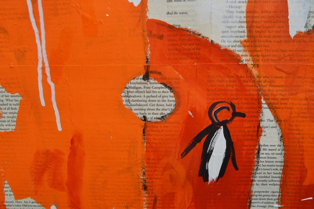 (CreativeWork) Unpopular Penguin 273 by Ben Tankard. Mixed Media. Shop online at Bluethumb.