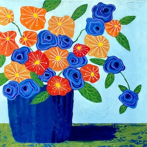 (CreativeWork) Let The Sunshine In by Lisa Frances Judd. arcylic-painting. Shop online at Bluethumb.