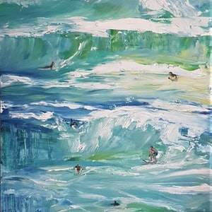 (CreativeWork) Summer breaks by Liz H LOVELL. oil-painting. Shop online at Bluethumb.
