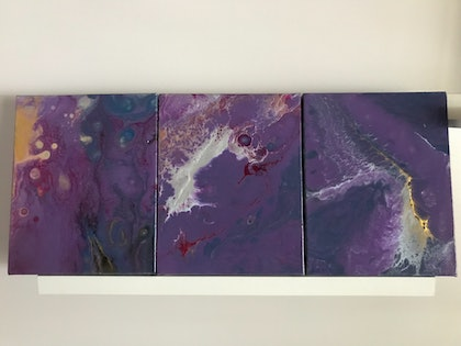 (CreativeWork) Alexandrite Series by Virginia Harding. arcylic-painting. Shop online at Bluethumb.