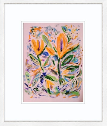 (CreativeWork) Bird of Paradise ' Flair' by Suzanne West. Acrylic Paint. Shop online at Bluethumb.
