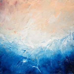 (CreativeWork) Splash by David Clare. oil-painting. Shop online at Bluethumb.