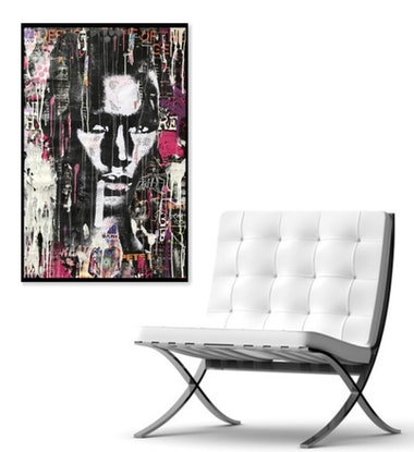 (CreativeWork) Street Pop 3 by Cold Ghost. Mixed Media. Shop online at Bluethumb.