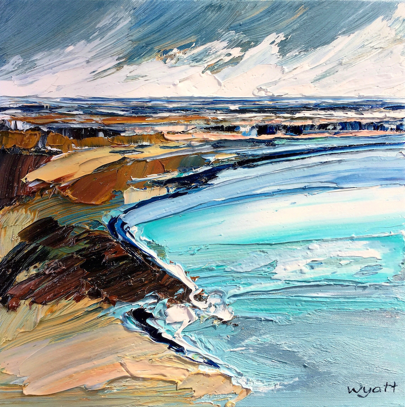 (CreativeWork) Haven by Katie Wyatt. oil-painting. Shop online at Bluethumb.