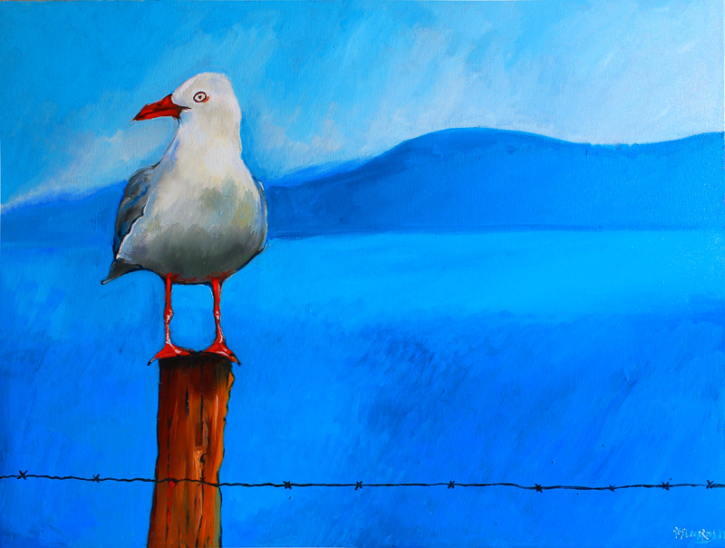 (CreativeWork) Waiting for Chips  by Rebecca Read. Oil Paint. Shop online at Bluethumb.