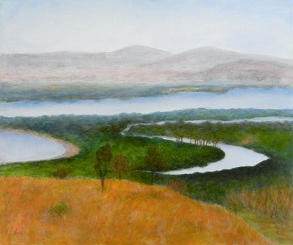 (CreativeWork) Gladstone Waterways 1 by Anne Huth. arcylic-painting. Shop online at Bluethumb.