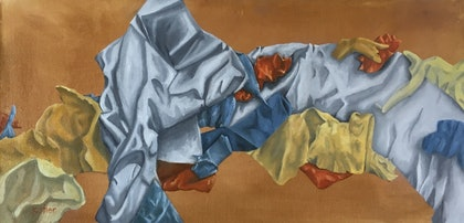 (CreativeWork) Folds by Susan Kotler. oil-painting. Shop online at Bluethumb.