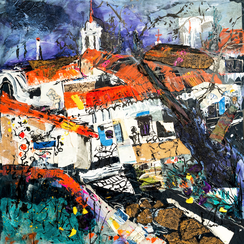 (CreativeWork) Old Convento, Portugal by Pamela Fairburn. Mixed Media. Shop online at Bluethumb.