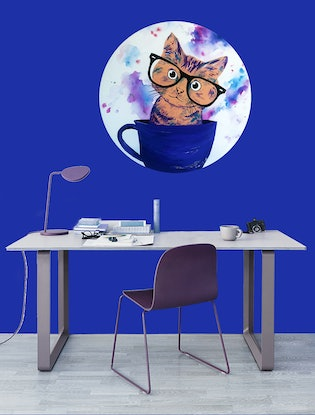 (CreativeWork) Nerd in a Teacup by Melanie Spehr. Mixed Media. Shop online at Bluethumb.