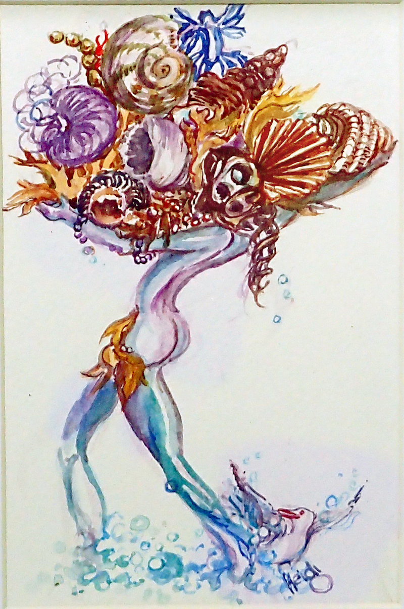 (CreativeWork) Bounty from the Sea 2 by Heidi Hereth. watercolour. Shop online at Bluethumb.