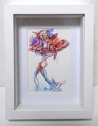 (CreativeWork) Bounty from the Sea 2 by Heidi Hereth. Watercolour Paint. Shop online at Bluethumb.