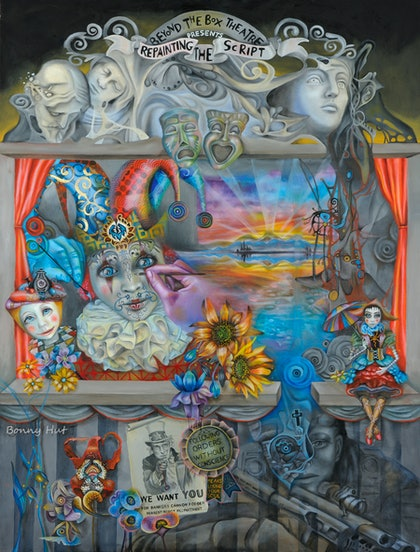 """Repainting the Script"" Surreal, visionary art. Ed. 3 of 20"