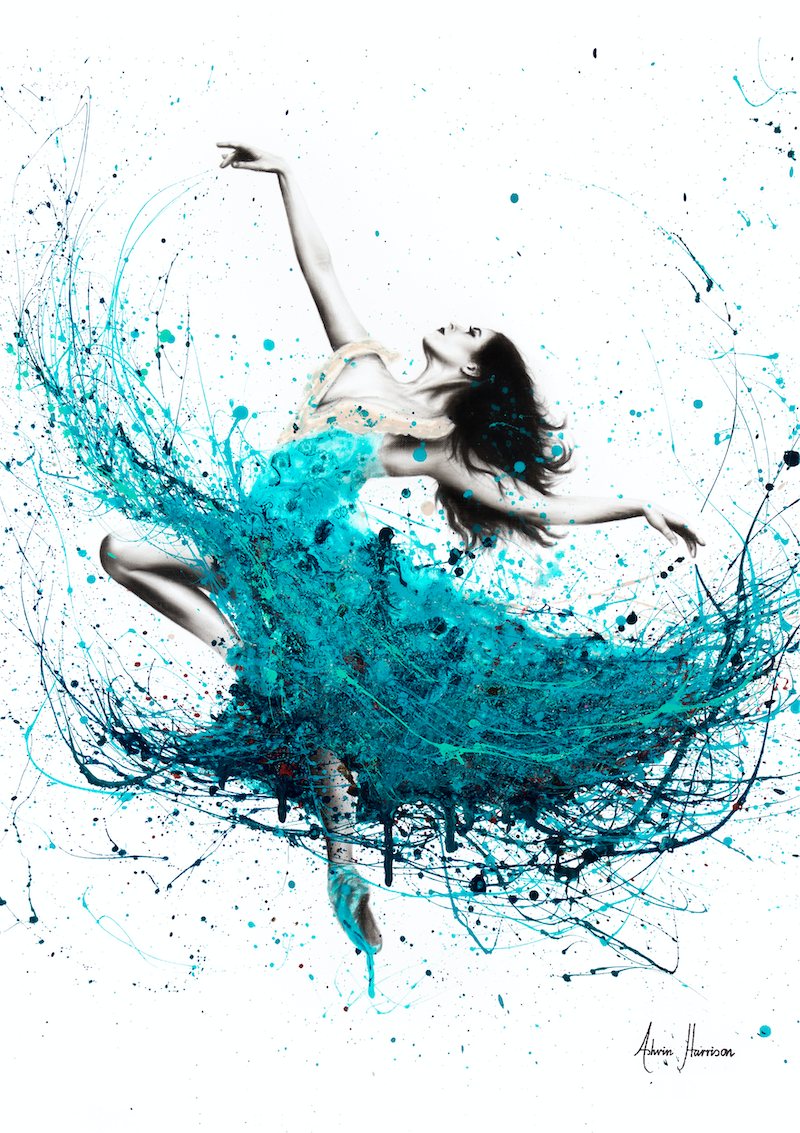 (CreativeWork) Ballerina Waves - Limited Edition Print- A3 size - Ed. 2 of 100 by Ashvin Harrison. Print. Shop online at Bluethumb.