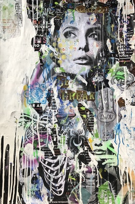 (CreativeWork) Le Freak by Cold Ghost. Mixed Media. Shop online at Bluethumb.