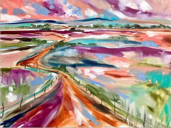 (CreativeWork) The long road home  by Amanda Brooks. Acrylic Paint. Shop online at Bluethumb.