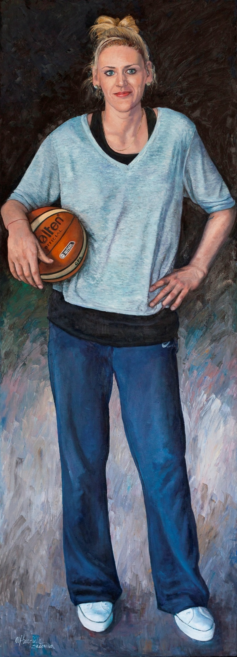 (CreativeWork) SIMPLY THE BEST-LAUREN JACKSON by Margaret HADFIELD. oil-painting. Shop online at Bluethumb.