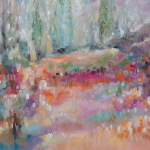 (CreativeWork) Sunset landscape Sunset 9 by sue bannister. oil-painting. Shop online at Bluethumb.