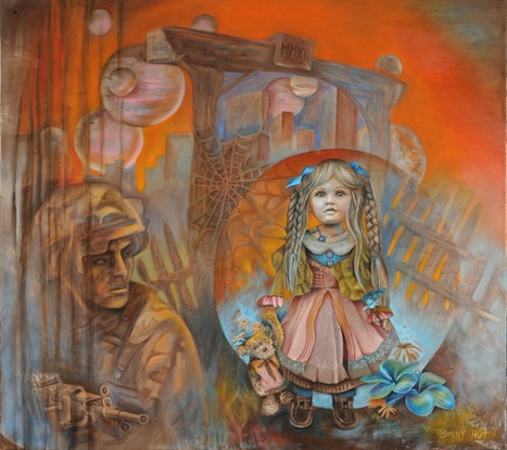 """(CreativeWork) """"Paradigm Shift"""" - Large surreal oil painting . by Bonny Hut. Oil Paint. Shop online at Bluethumb."""