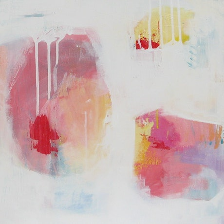 (CreativeWork) Contemporary Abstract - Moments I by Fiona Hill. Acrylic Paint. Shop online at Bluethumb.