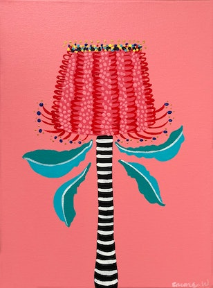 (CreativeWork) Banksia lights by emma whitelaw. Acrylic Paint. Shop online at Bluethumb.