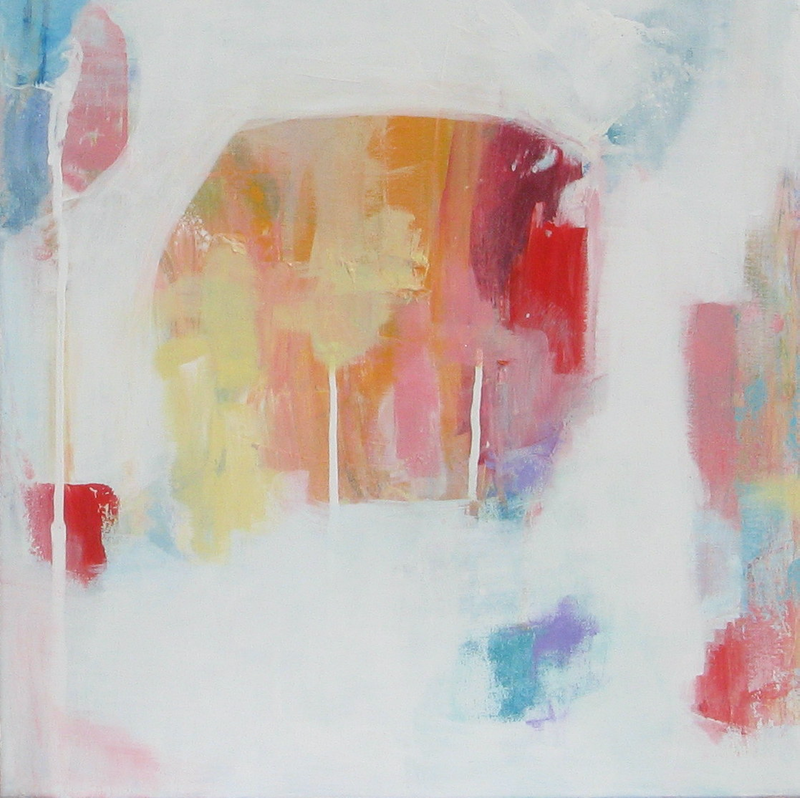 (CreativeWork) Contemporary Abstract - Moments II by Fiona Hill. Acrylic Paint. Shop online at Bluethumb.