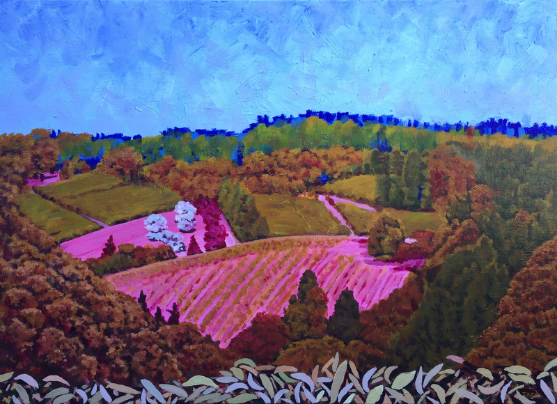 (CreativeWork) Lenswood by Jacqueline Briner. Acrylic Paint. Shop online at Bluethumb.