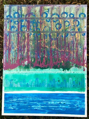 (CreativeWork) 'Doesn't really matter' by Lucy Arnott. Acrylic Paint. Shop online at Bluethumb.