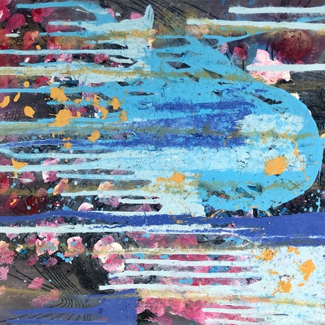 (CreativeWork) 'Blurry still has potential' by Lucy Arnott. Acrylic Paint. Shop online at Bluethumb.
