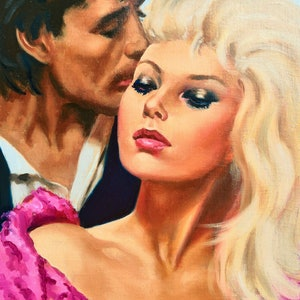 (CreativeWork) outrageous 80s romance by gord anderson. oil-painting. Shop online at Bluethumb.
