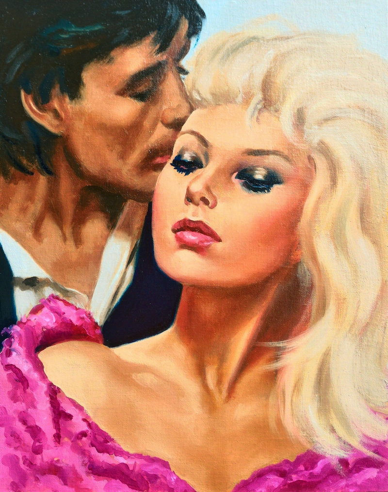 (CreativeWork) outrageous 80s romance by gord anderson. Oil Paint. Shop online at Bluethumb.