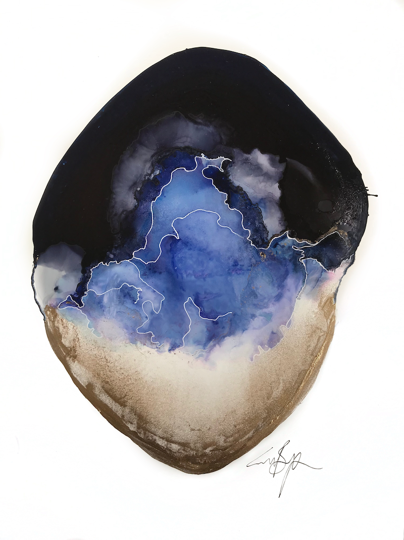 (CreativeWork) Purple Oyster by Emme Bergman. other-media. Shop online at Bluethumb.