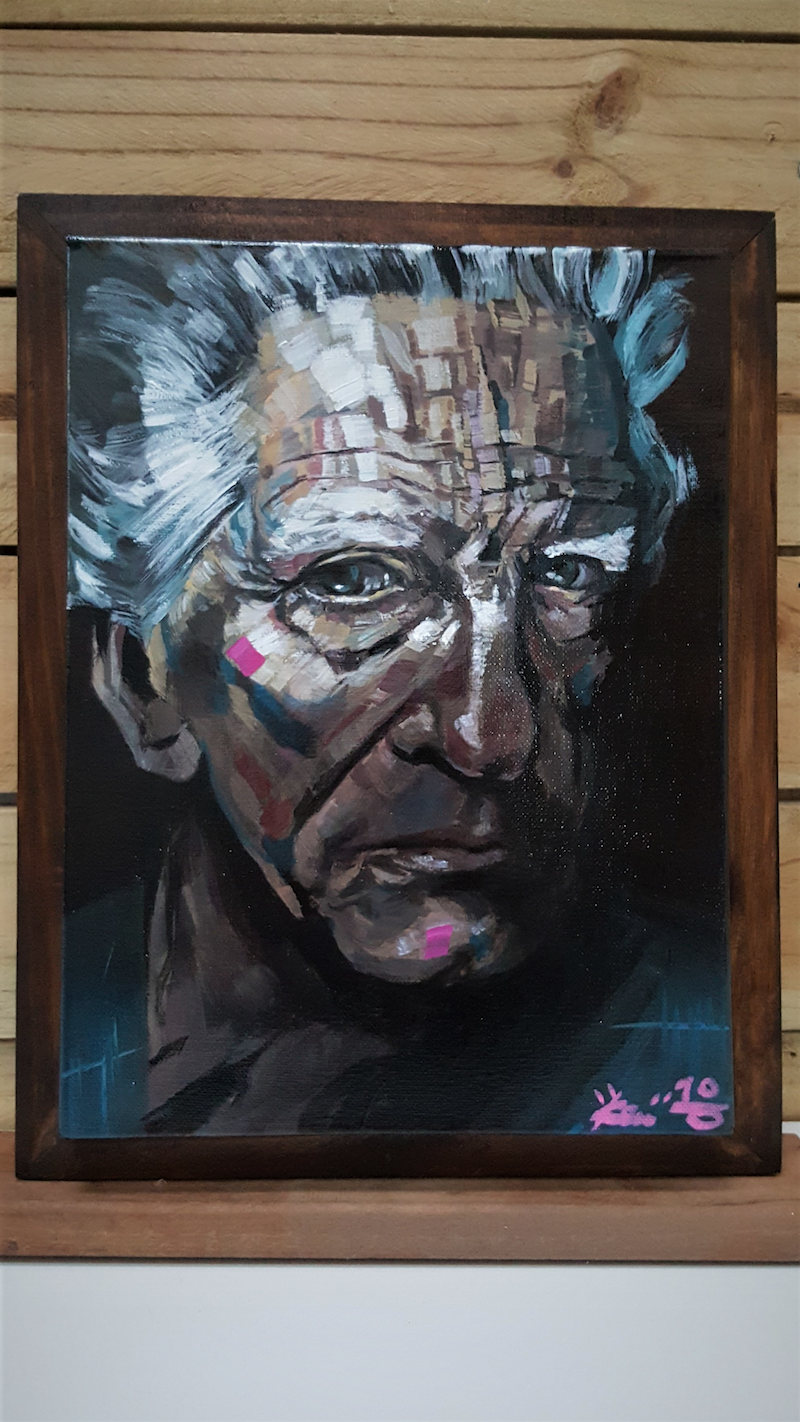 (CreativeWork) Portrait Sketch by Kenneth Chu. arcylic-painting. Shop online at Bluethumb.