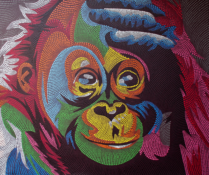 (CreativeWork) CHEEKY MONKEY by DEREK ERSKINE. Oil Paint. Shop online at Bluethumb.