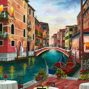 (CreativeWork) Evening in Venice , Italy, Limited Edition Giclee Print Ed. 1 of 100 by Debra Dickson. print. Shop online at Bluethumb.