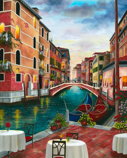 Evening in Venice , Limited Edition Giclee Print Ed. 1 of 100