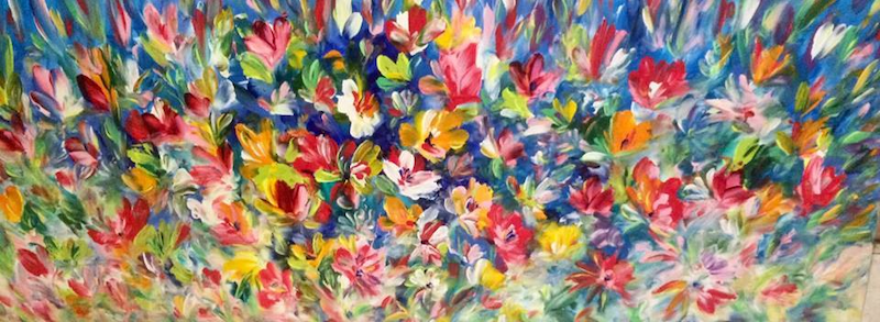 (CreativeWork) Promise of Spring by Terina Jones. arcylic-painting. Shop online at Bluethumb.