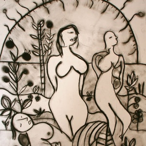 (CreativeWork) SUNGIRLS by DEREK ERSKINE. drawing. Shop online at Bluethumb.