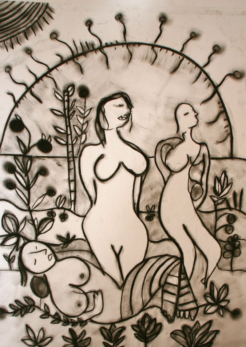 (CreativeWork) SUNGIRLS by DEREK ERSKINE. Drawings. Shop online at Bluethumb.