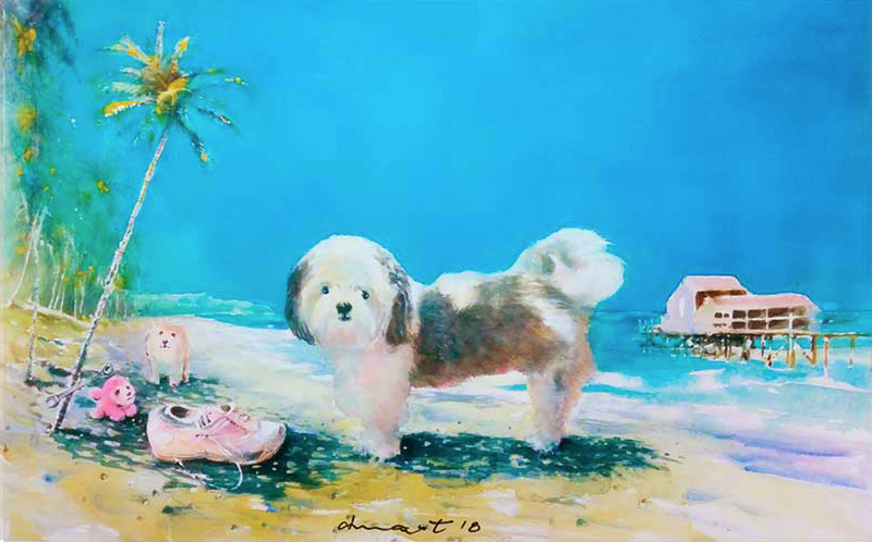 (CreativeWork) sunny and friends by peter smart. Watercolour Paint. Shop online at Bluethumb.
