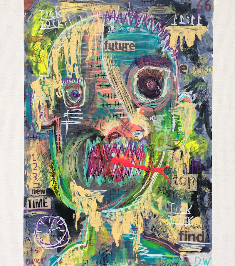 (CreativeWork) Future reference  by Dominic J White. mixed-media. Shop online at Bluethumb.