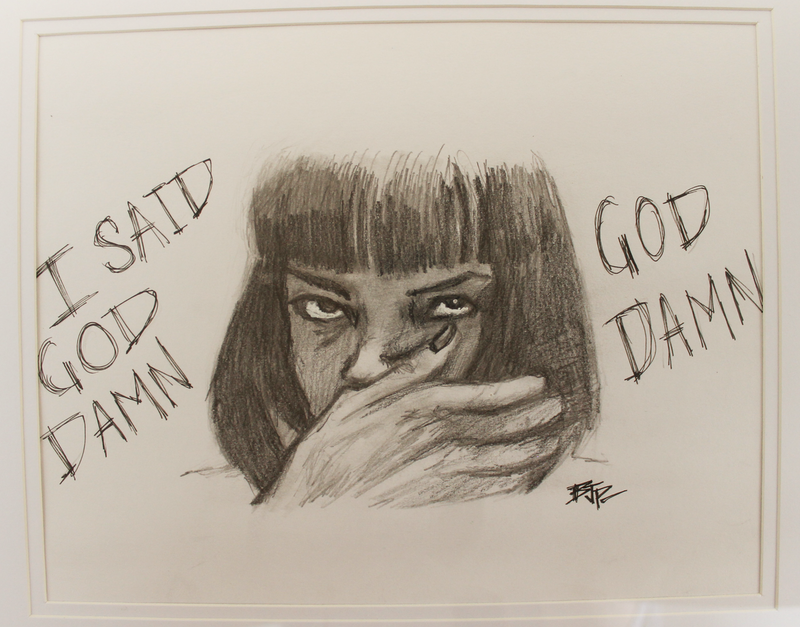(CreativeWork) Mia Wallace by Bjp_ Art. drawing. Shop online at Bluethumb.