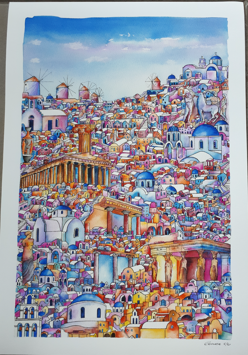 (CreativeWork) Collage of Greek beauties  Ed. 5 of 20 by Grazia Carrara. print. Shop online at Bluethumb.